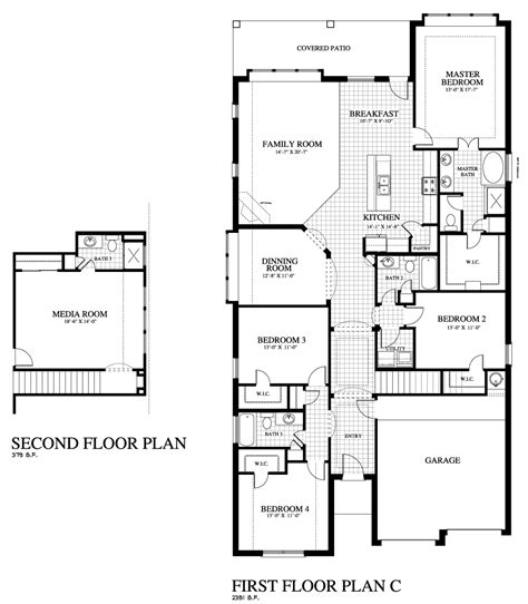 First Texas Homes Floor Plans Plan 2311c Mr Saratoga Homes Austin