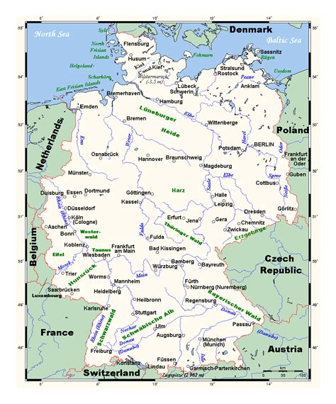 germany map detailed detailed map of germany with major cities germany