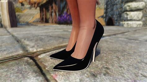 skyrim high heels hdt skyrim high heels elewin pumps high heels for unp at