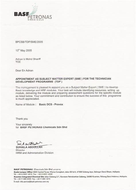 appointment letter guidelines format for appointment letter