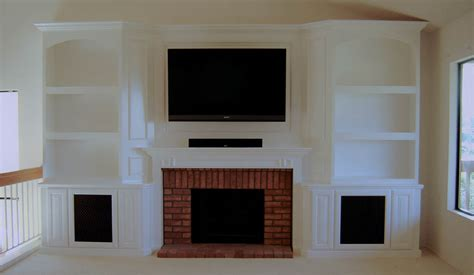 cabinets around fireplace design custom entertainment centers designed built