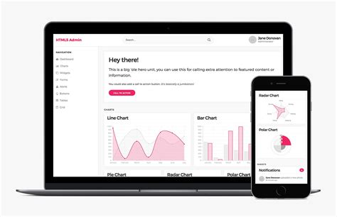 Html5 Admin Template by Free Html5 Admin Template Medialoot