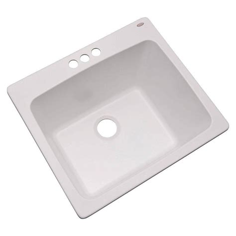 laundry room tub sink 3 25 in drop in single bowl kitchen utility sink