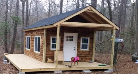 diy tiny cabin   woods project
