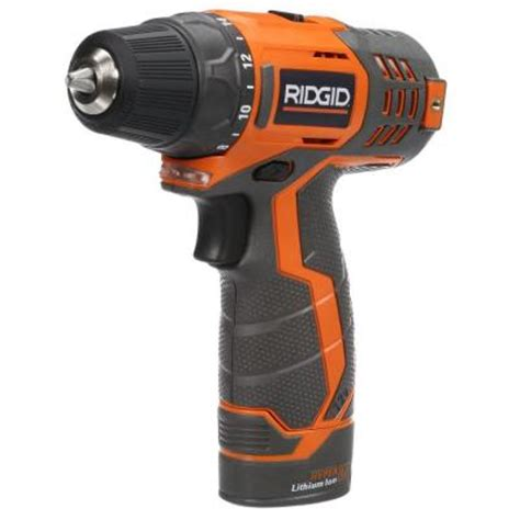 ridgid 12 volt lithium ion 3 8 in cordless drill kit