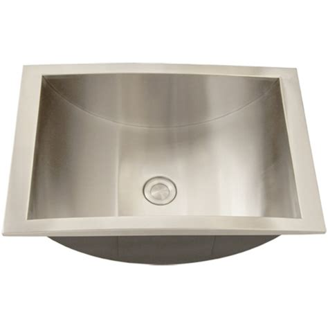 Stainless Steel Bathroom Sinks ticor s740 overmount stainless steel bathroom sink