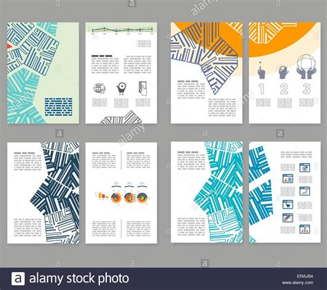 flyer leaflet booklet layout set editable design