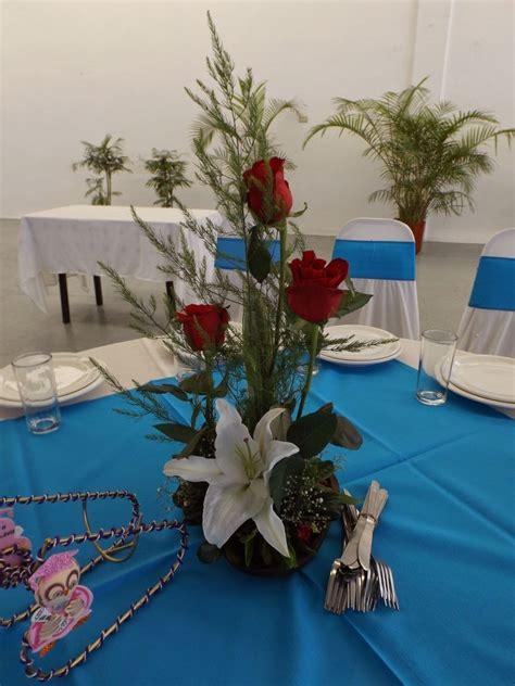 arreglo floral para centro de mesa bautizos matrimonios etc centros de mesa arreglos florales para boda xv a 241 os bautizo 89 00 en mercado libre