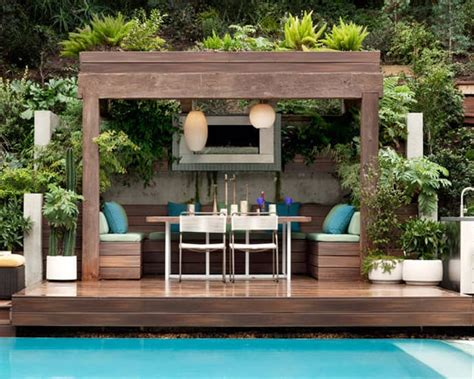 Poolside Cabana Plans by Summer Is Coming 35 Great Ideas For Your Garden