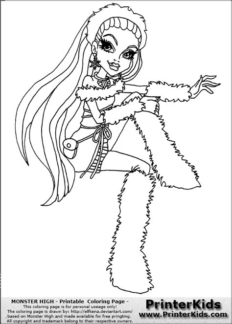monster high coloring pages baby abbey bominable free coloring pages of monster high baby abby