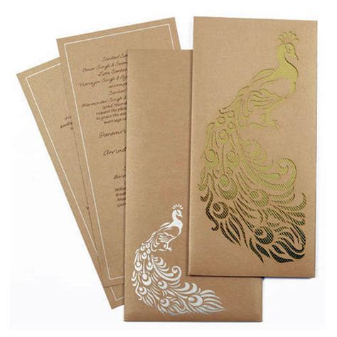 brown paper traditional wedding cards rs 10 onwards orient cards id 9810023333