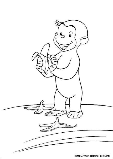 george coloring book page cute monkey 13 curious george coloring pages for kids