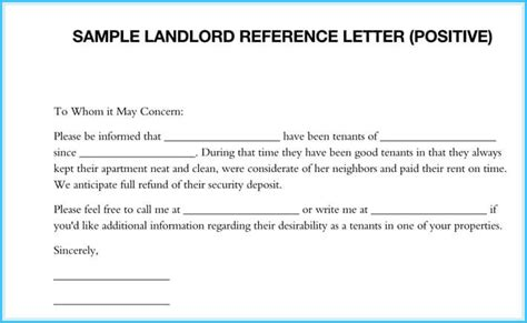 reference letter from landlord template 5 sle landlord reference letters what is it how to