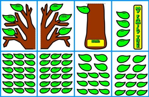 printable family tree for school project family tree lesson plans large tree templates for