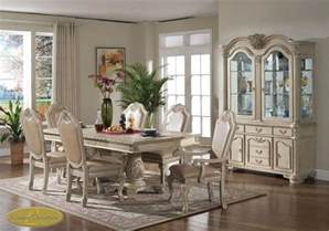 Antique White Dining Room Sets 8pc Antique White Traditional Dining Room Set Ebay