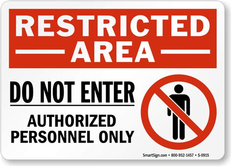 restricted areas authorized personnel only labels decals safety stickers
