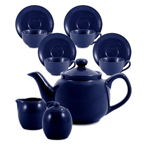 Bluss Set amsterdam tea set 6 cup royal blue