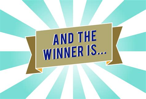contest results competition winner congratulations neil speller