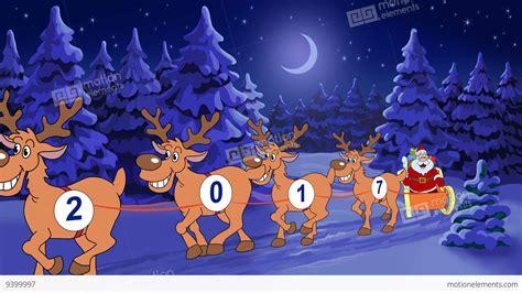 christmas   year animated card  santa claus stock animation