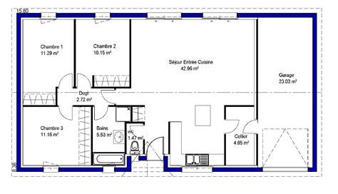 plan 騁age 3 chambres exposition plan maison chambres lina maisons lara plan