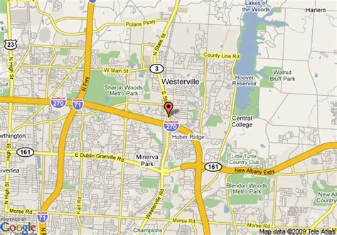 map of baymont inn suites westerville westerville