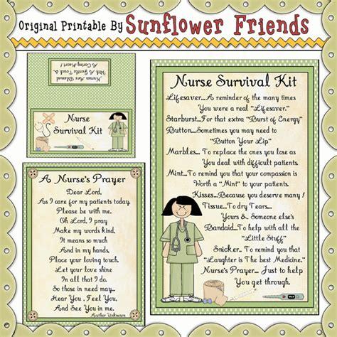 Nursing School Gifts For Friends - survival kit sunflower friends clipart