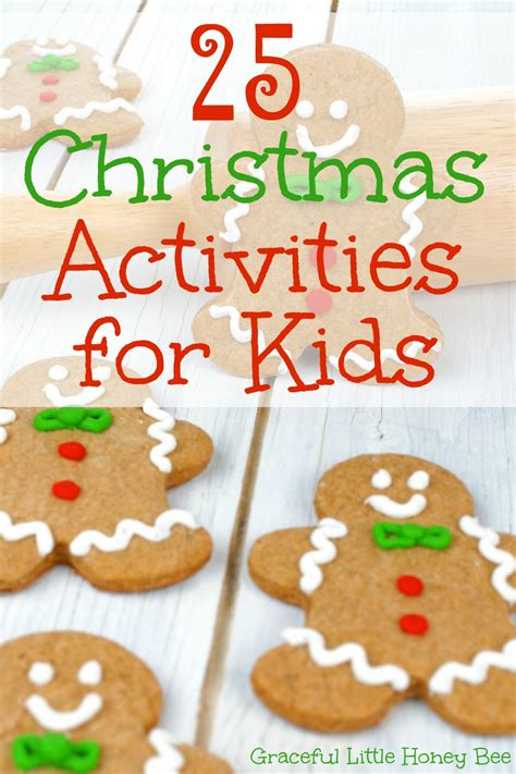christmas activities for kids 25 activities for graceful honey bee