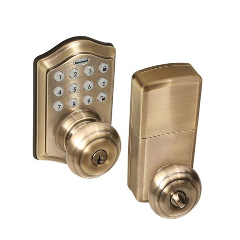 Electronic Door Knob Lock by Honeywell 8732101 Electronic Entry Knob Door Lock With