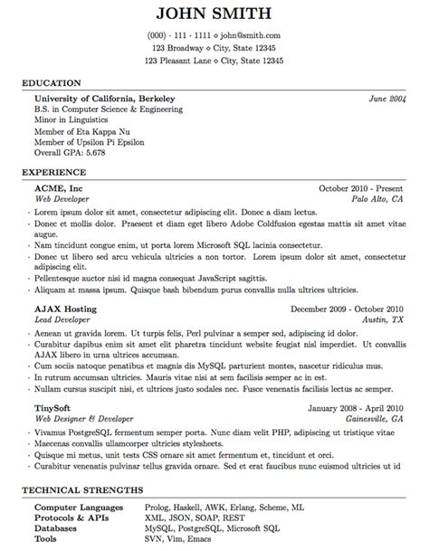 Best Resume Latex Template latex templates 187 medium length professional