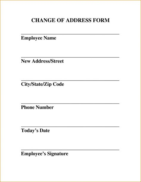 Free Change Of Address Resume Trakore Document Templates Free Address Templates For Word