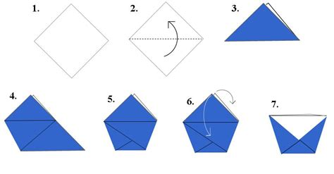 Origami Cup - tutorial how to fold a fry cup taste