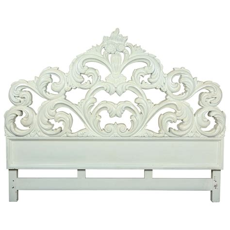 carved wood headboards glamorous carved wood baroque headboard at 1stdibs