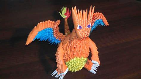 3d origami tutorial pinterest 3d origami pokemon charizard dragon tutorial origami