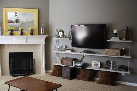 Diy Living Room Media Shelves Best 25 Tv Wall Shelves Ideas On Tv Shelving