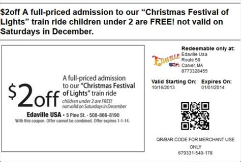 festival of lights coupons edaville festival of lights coupon coupons discounts