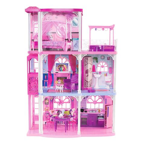 barbie dreamhouse amazon com barbie pink 3 story dream townhouse toys games