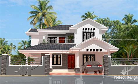 kerala style traditional sloping roof house 1818 sq ft traditional sloped roof house kerala home design