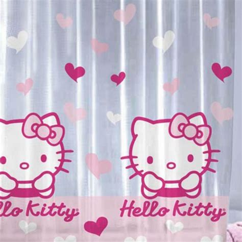 hello kitty fabric shower curtain hello kitty shower curtain