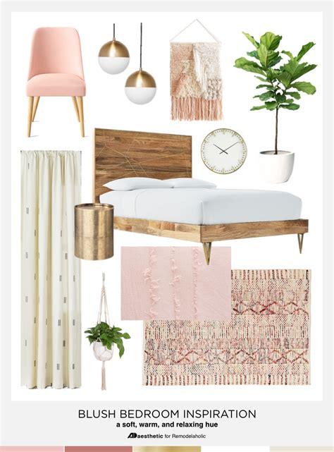 remodelaholic pretty  pink blush pink bedroom inspiration