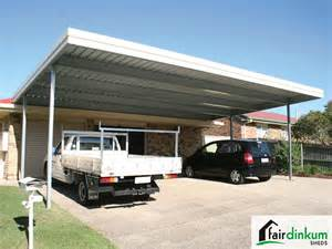 flat roof carport customise size colours fair dinkum