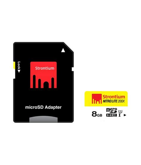 Micro Sd Strontium 8gb strontium 8gb 30mb s class10 200x nitro micro sd card uhs 1 memory cards at low
