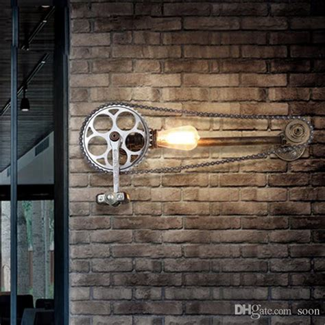 industrial style wall decor 2017 bicycle gear wall ls industrial style iron