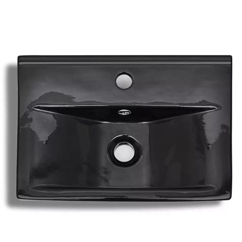 overflow hole in sink ceramic bathroom sink basin faucet overflow hole black