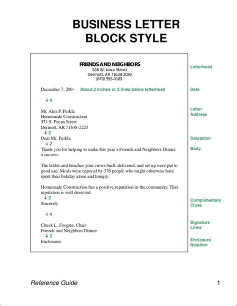 In The Block Style Business Letter All Elements Are proper business letter format elements to include