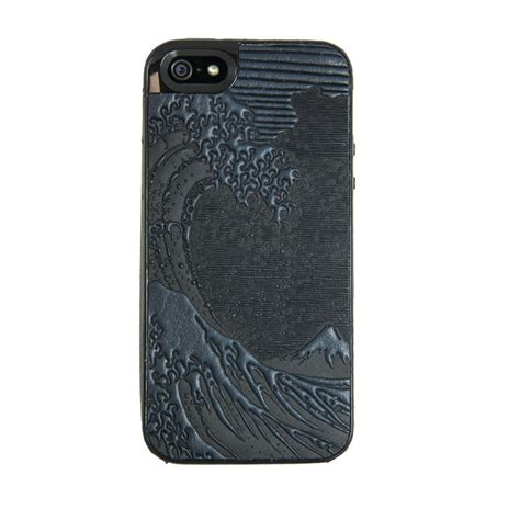 Wave Leather hokusai wave leather iphone leather gifts fairyglen