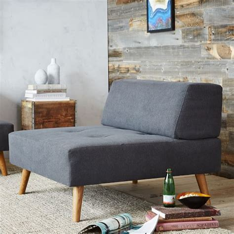 west elm chair with ottoman retro tillary 174 ottoman licorice marled microfiber