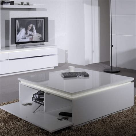 White Gloss Coffee Table Uk Skylight Electra High Gloss Coffee Table In White With Led Lighting Furniture123