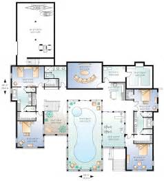 Small Pool House Floor Plans Home Plan With Indoor Pool Homedesignpictures