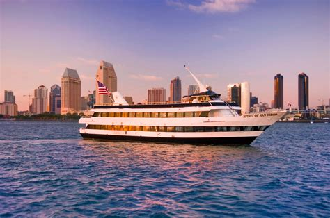 dinner on a boat in the bay san diego harbor cruise flagship cruises events