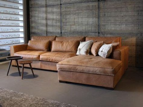 cognac lederen sofa met chaise longue moodboard